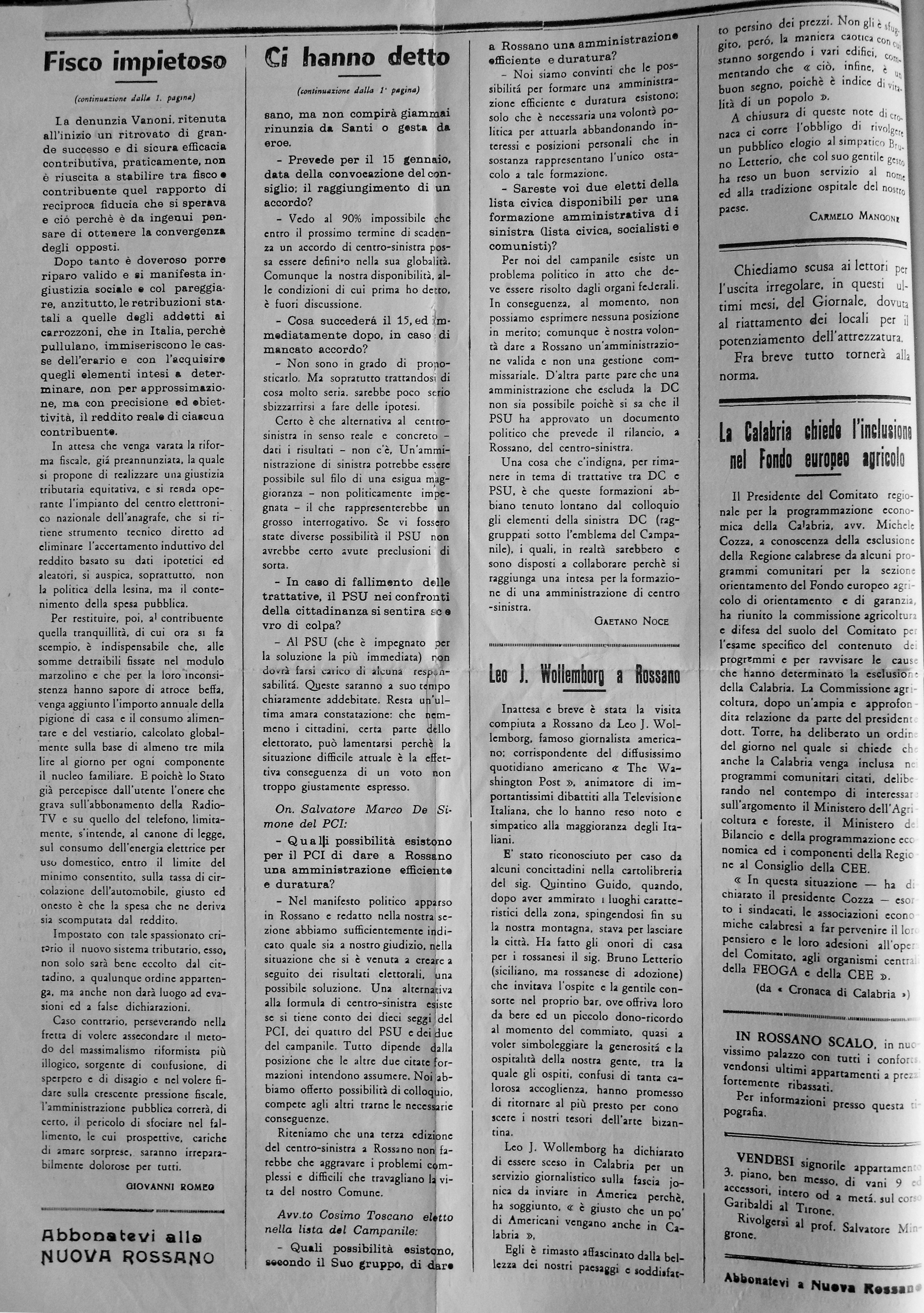 Pubblicazioni Matrimonio Oriolo Romano : 1968 antica biblioteca rossanese